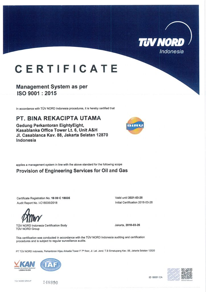 We Have ISO Certificate An ISO 9001 - 2015